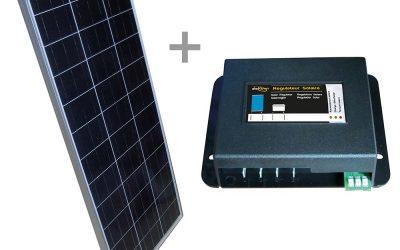 Pannello solare monocristallino 130 w con regolatore mppt